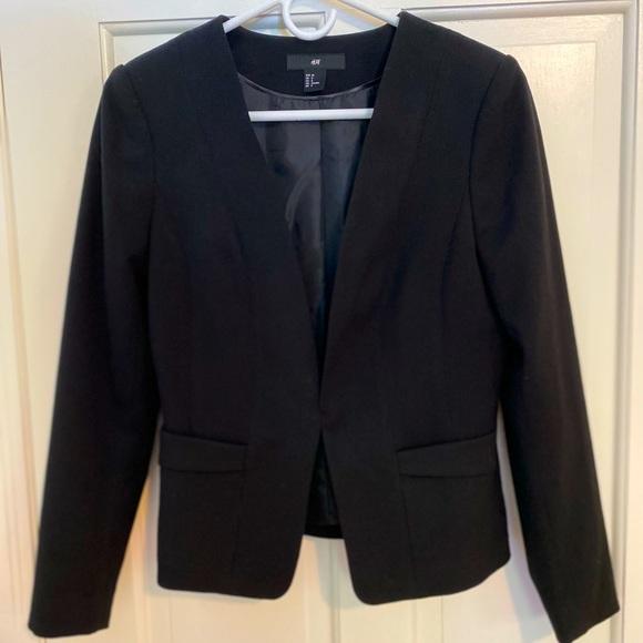 H&M Blazer/jacket without lapels - Size 8